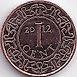 Munten - Suriname - Suriname 1 cent 2012