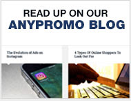 Read Up on our AnyPromo Blog