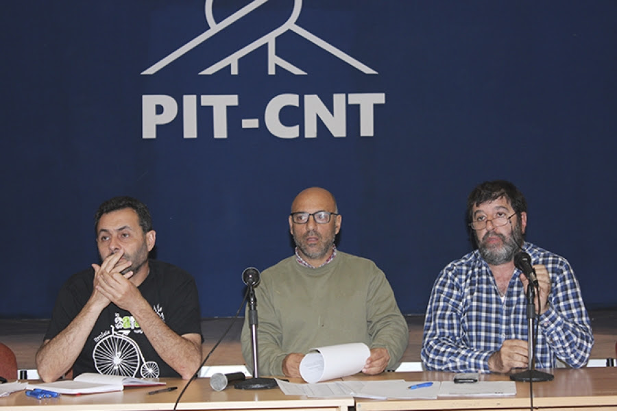 PIT-CNT realiza paro parcial en apoyo a trabajadores que están en huelga de hambre
