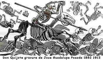 2016 09 13 02 Don Quijote gravure de Jose Guadalupe Posada 1852 1913