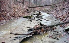 Underground mining can drain water from streams and wells. Credit: Center for Coalfield Justice
