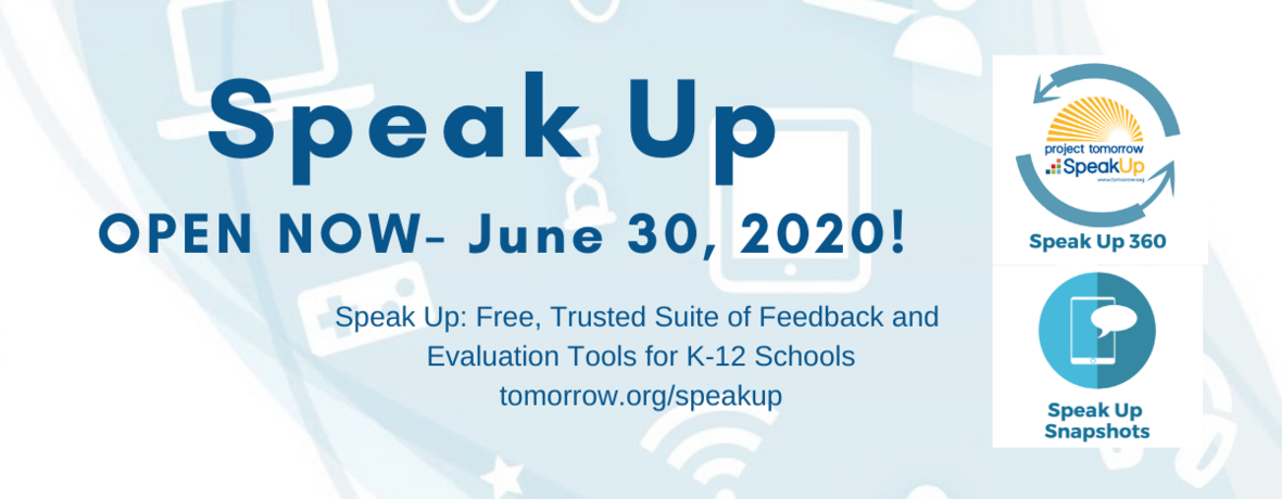 Twitter header 2019-20 Speak Up Offerings