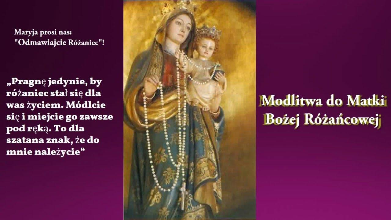 Modlitwa do Matki Bożej plus Cytaty św. Jana Pawła II o Różańcu - YouTube