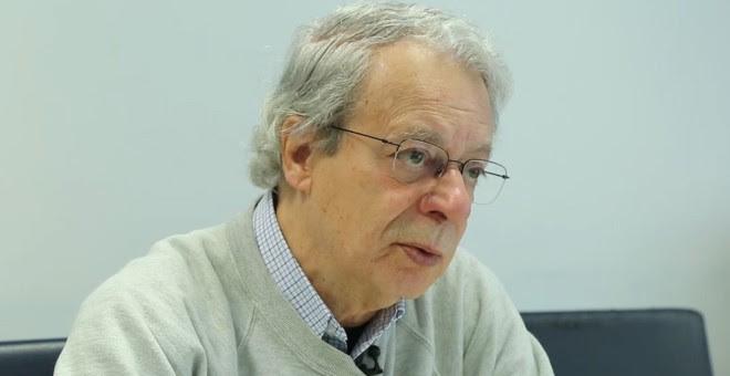 Frei Betto, durante la entrevista en la Redacción de 'Público'.