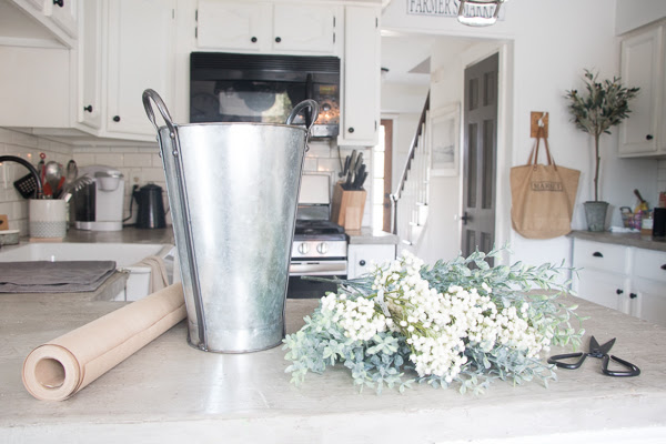 how to create a faux floral arrangment