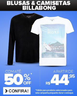 Blusas e Camisetas Billabong