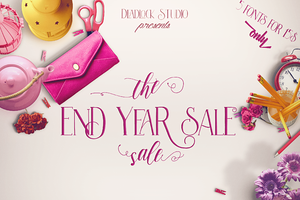 The End Year Sale ( Font Bundle )