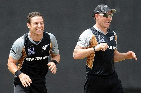 Brendon McCullum and Nathan McCullum while playing for New Zealand