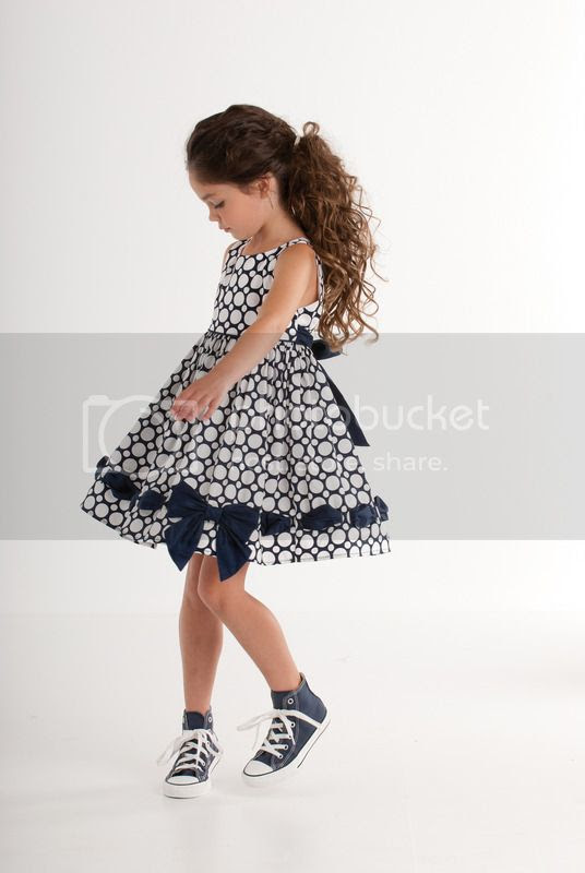 biscotti navy polka dot dress