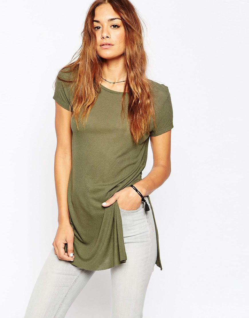 Image 1 of ASOS Tunic Top with Side Split