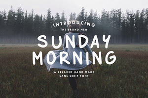 Sunday Morning - Custom Font