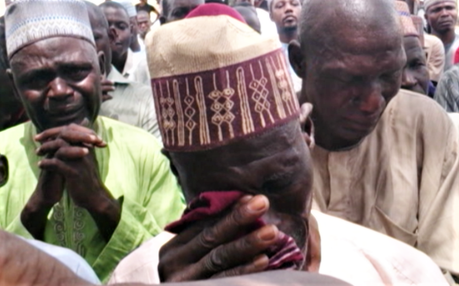Parents in Chibok, Nigeria mourn the loss of girls kidnapped in 2014. (VOA)