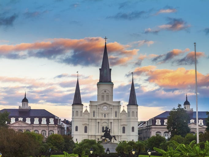 Overlooking                                                           Jackson Square                                                           in the French                                                           Quarter, the                                                           Cathedral-Basilica                                                           of St. Louis                                                           King of France                                                           has come to                                                           represent the                                                           city of New                                                             Orleans. It's                                                           also the                                                           oldest                                                           continuously                                                           operating                                                           Catholic                                                           church in the                                                           United                                                           States.