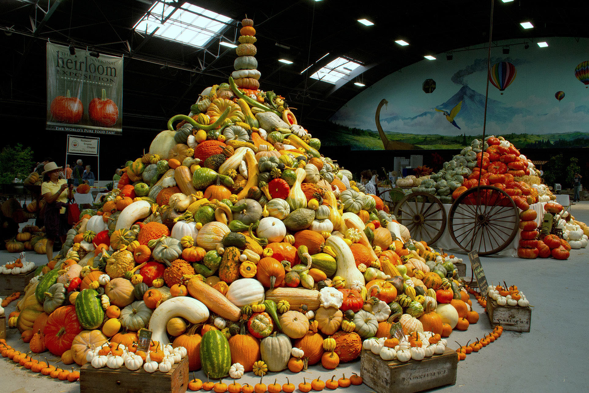 National Heirloom Exposition Veggie Pyramid!