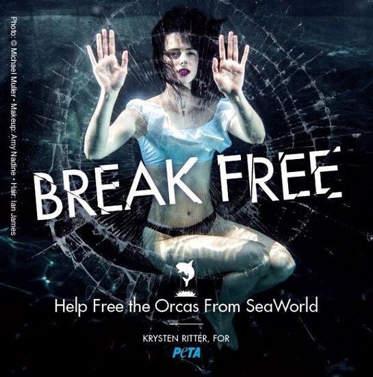 Krysten Ritter in PETA's New Anti-SeaWorld Ad