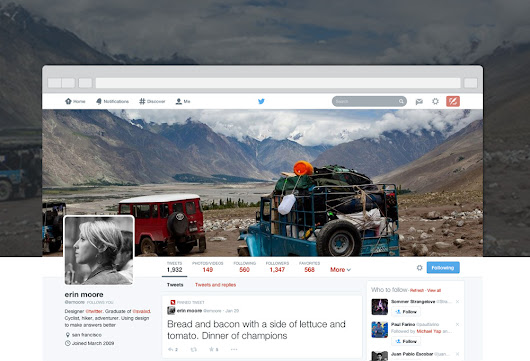 Xclusive Tech: Meet the new you: Twitter Introduces a New Design