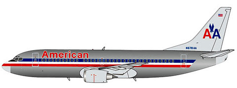 LH4049 | JC Wings 1:400 | Boeing 737-300 American Airlines N678AA | is due: August 2020