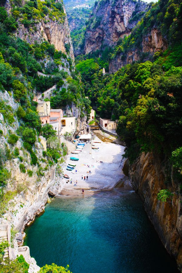 Italien | Secluded Beach, Furore, Amalfi,                                                           Italy