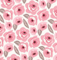 Poppy Pink Floral Mural