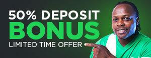50% Deposit Bonus