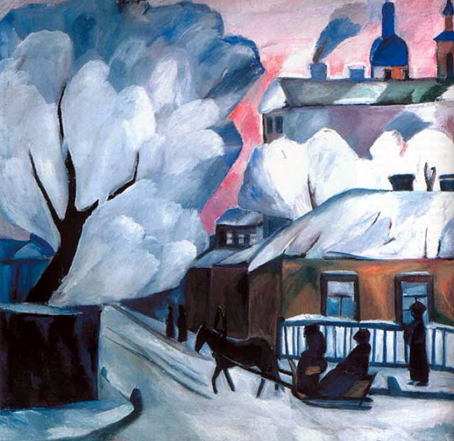 Московская зима, 1900-е (656x637, 402Kb)