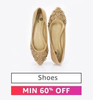 Shoes : Minimum 60% Off