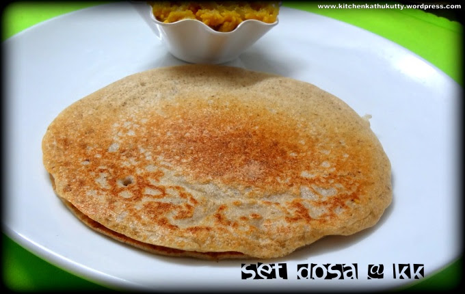 set dosa or poha dosa or sponge dosa