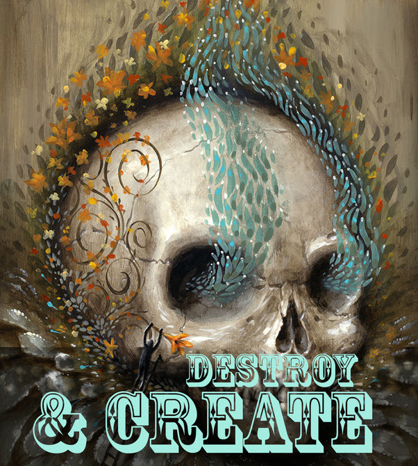 Destroy and create logo