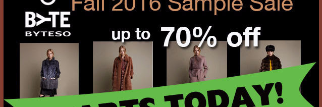 GIULIANA TESO Sample Sale —TODAY!