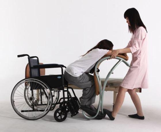 Lady Shifting utiliza o princípio da alavanca para dar condições à uma única pessoa realizar a transferência