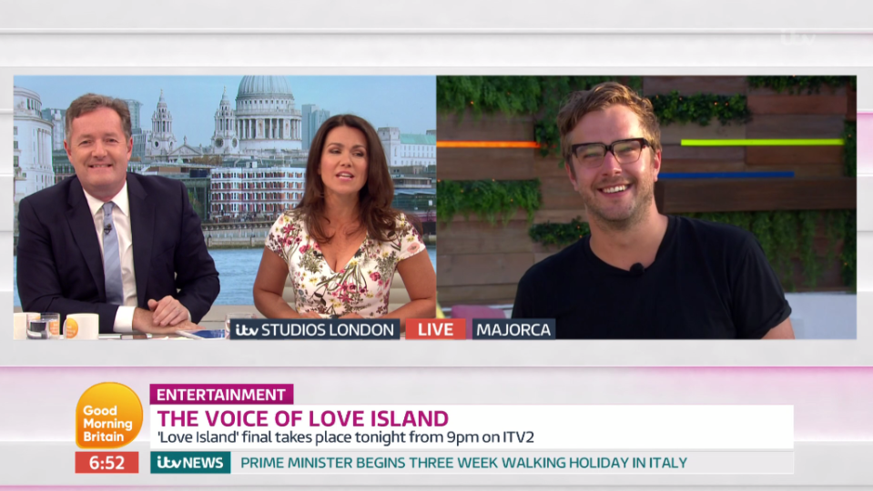 Iain and Susanna laughed as Piers had no clue about the Love Island lingo