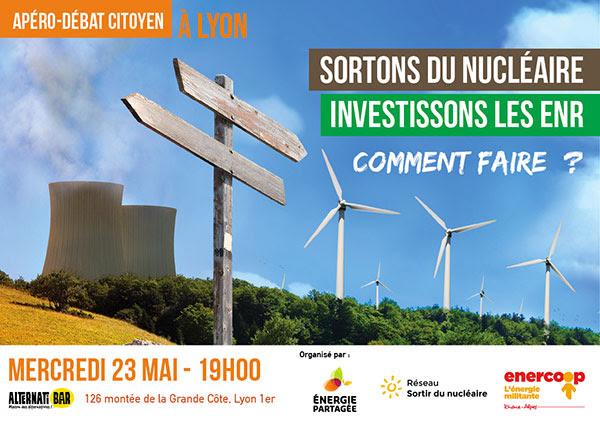 Apéro-débat citoyen à Lyon, mercredi 23 mai à 19h à l'Alternatibar, avec Énergie Partagée, le Réseau