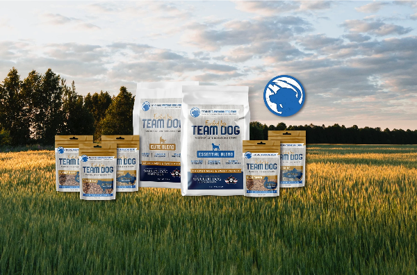 Team Dog freeze dried training treats, meal toppers and Elite or Essential Blends of food are now in stock!