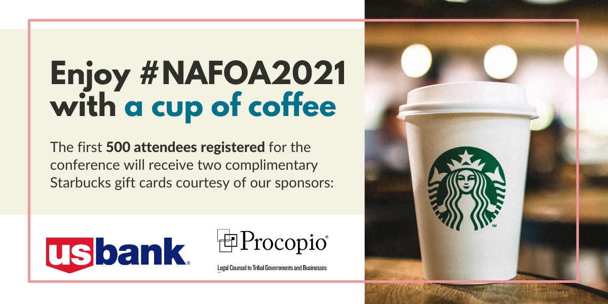 The first 500 attendees registered for the conference will receive two complimentary Starbucks gift cards courtesy of our sponsors: US Bank and Procopio
