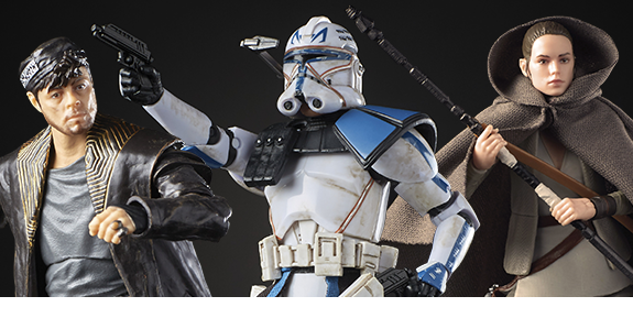 "STAR WARS: THE BLACK SERIES 6"" WAVE 26 - CPT REX, DJ, REY"