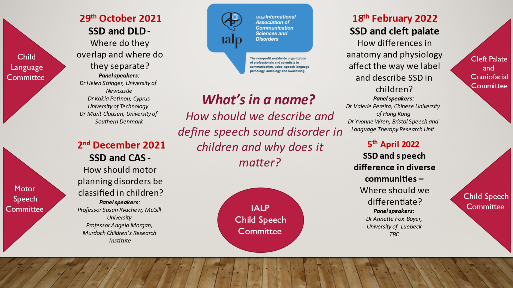 IALP Child Speech Committee Online Panel Series – 2021-2022