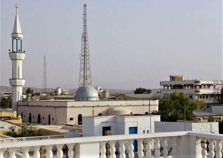 Bosaso (Arabic Boosaaso), in northern Somalia, on the Gulf of Aden. (Wikipedia, warsame90)