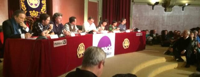 Carmona, Iglesias, Uralde, Bayo, Santiago, Talegón, Vivas y Salgado, este jueves, en el Ateneo.