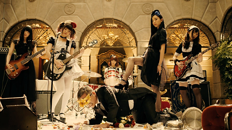 "Picture from BAND-MAID's ""Don't you tell ME"" video"
