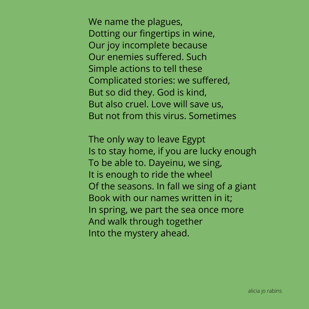"""""""Jewish holidays in the year 5780"""" poem part 2"""