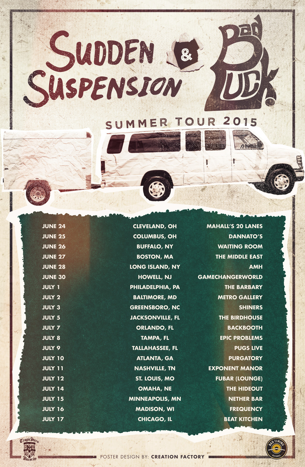 sudden suspension summer tour