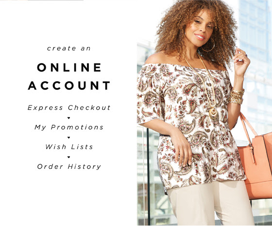 Create an online account - Express Checkout - My promotions - Wish lists - Order history