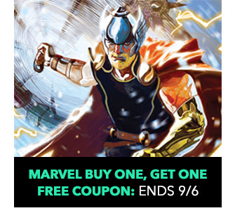 Marvel Buy One, Get One Free Coupon! Sale ends 9/6.
