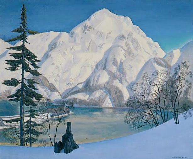 Аляска. Вид с Лисьего острова зимой (614x507, 294Kb)