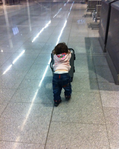 What not to do when travelling with children: overpack