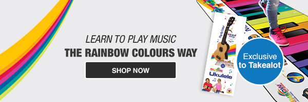 Kids Musical Instruments: Rainbow Colours