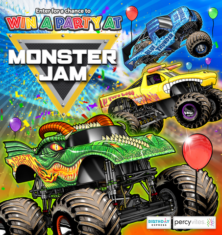 """""""Birthday Express Monster Jam Party Giveaway"""""""
