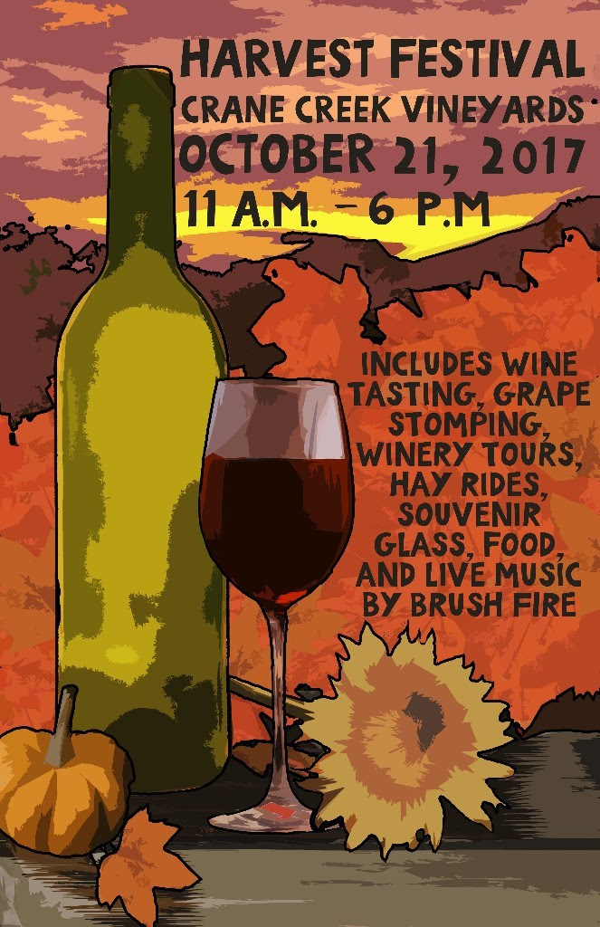 Harvest Festival at Crane Creek Vineyards Poster
