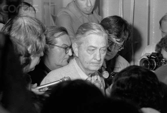 01 May 1975, HongKong --- US Ambassador to South Vietnam shows grim face as he surrounded by press men on the USS Blue Ridge in the South China Sea, 4/30.  He abandoned the US embassy in Saigon just before the Saigon government surrendered to the Viet Cong and evacuated to the ship with other embassy staffers government surrendered to the Viet Cong and evacuated to the ship with other embassy staffers. --- Image by © Bettmann/CORBIS