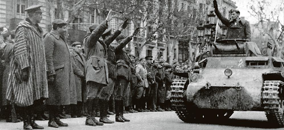 Desfile militar franquista